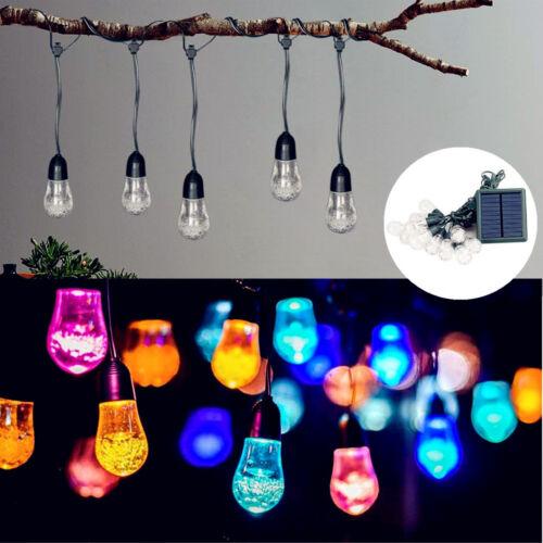 5M LED Solar Lichterkette Party Garten Leuchte Dekobeleuchtung Außen Licht Lampe