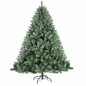 Holiday Realistic Christmas Tree 7FT Snow Tips Sturdy Xmas Home Decoration
