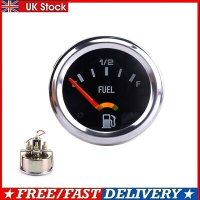 2 Inch 52mm Mechanical Auto Car Fuel Level Gauge Meter E-1/2-F Pointer 12V