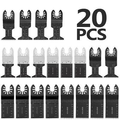 20pc Oscillating Multitool Saw Blade Set Fits For Fein Multimaster Makita Bosch