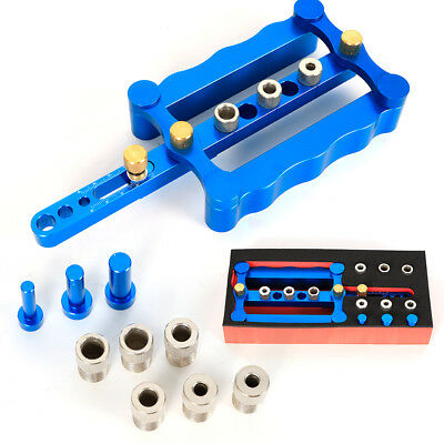 6/8/10mm Self Centering Dowelling Jig Dowel Hole Drilling Guide for 17-60mm Wood