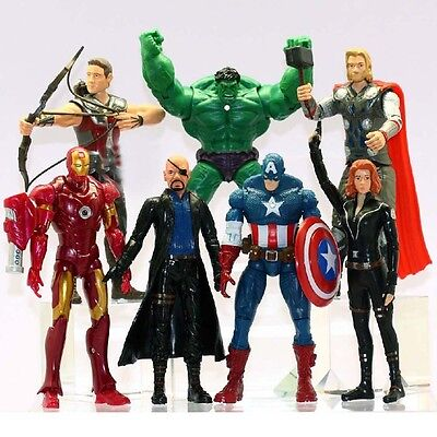 Avengers Thor Hulk Iron Man Captain America Black Widow Action Figure Toy 7 PCS
