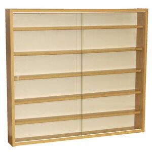 REVEAL-6-Shelf-Glass-Wall-Display-Unit-Oak-MC0500
