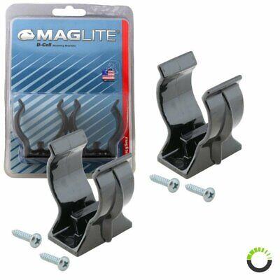 MAGLITE Mounting Brackets for D-Cell Flashlights, Black #ASXD026