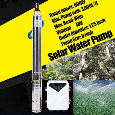 High Pressure 600w Deep Well Submersible Pump Solar Water Pump Wmppt Controller