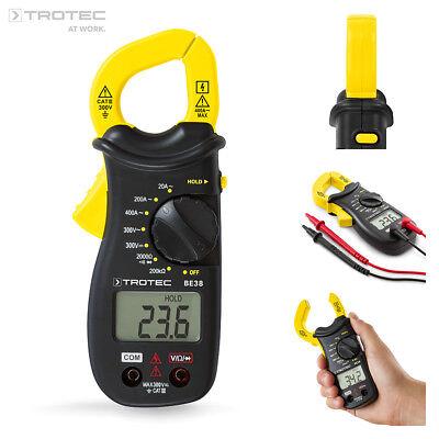 TROTEC Stromzange BE38 | Zangenampermeter | Multimeter | Strommessgerät | Prüfer (Ampere-meter)
