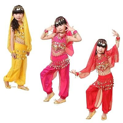 Belly Dance Costume For Kids (KID's Belly Dance Costumes Top and Pants Set Party Fancy Costume Outfit for)