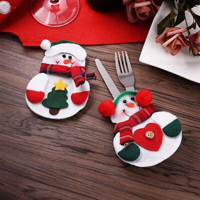 6X Weihnachten Xmas Party Tischdekoration Tableware Besteck Kostüm Cutlery Bag