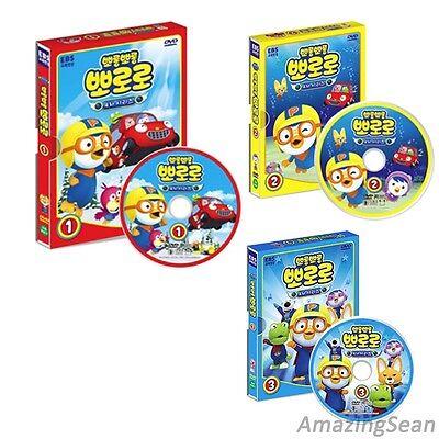 Pororo DVD Season 4 (1,2,3) English Subtitles Korean Animation Cartoon Character