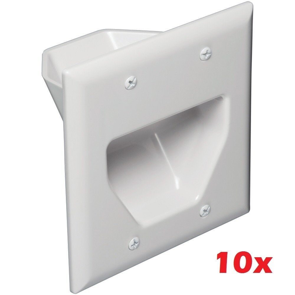 Computone 10x 2 Gang Recessed Double Size Bulk Cable/wire...