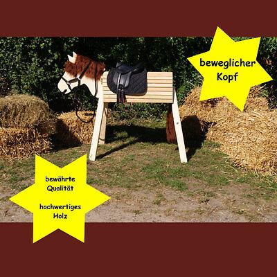Holzpferd,Voltigierpferd,Pferd, bew-Kopf ca.105cm OHNE Lasur