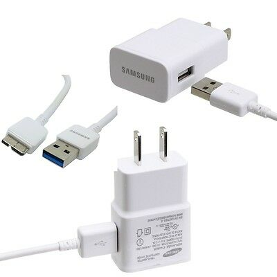 Galaxy S5 Note 3 Original Samsung 2 AMP Rapid Wall Charger Micro USB 3.0 Cable