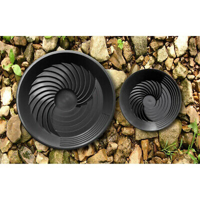 Turbopan Gold Prospecting Tools 16 And 10 Black Plastic Sluice Gold Pans