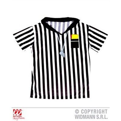 Referee T-shirt Unisex Child's Costume Football 158cm 11-13yrs Sport Fancy