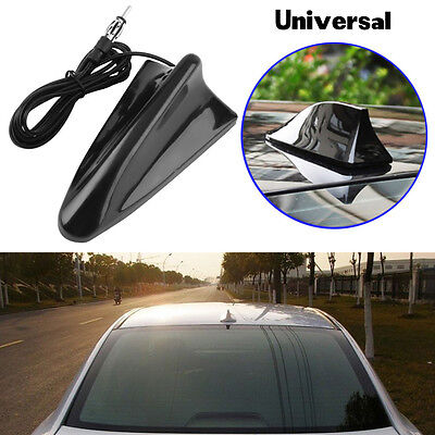 Universal Car Suv Black Roof Radio Am Fm Signal Booster Shark Fin Aerial Antenna