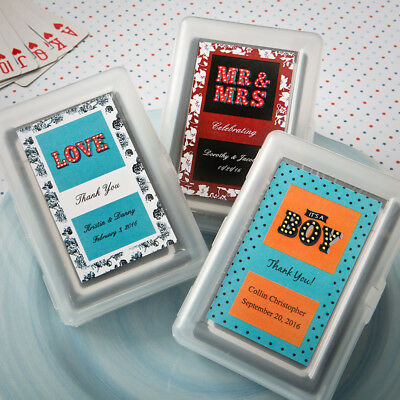 40-100 Personalized Marquee Design Playing Cards - Wedding Shower Party Favors](Personalized Playing Cards Wedding Favors)