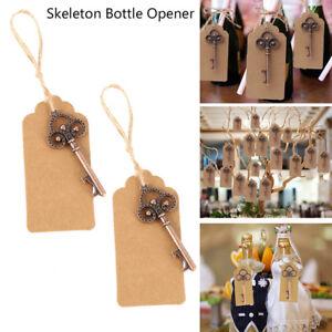 50 Vintage Skeleton Key Bottle Opener and Key Chain Barware Wedding Favors US