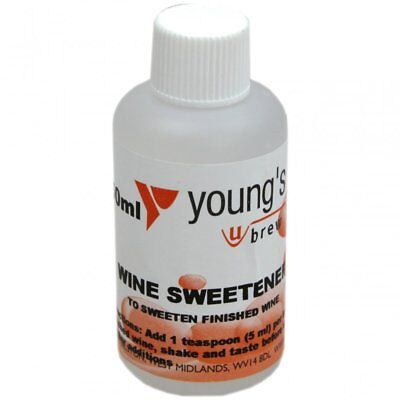 Wine Sweetener Youngs Wine Making Sweetner Home Brew Wines and Cider 50ml
