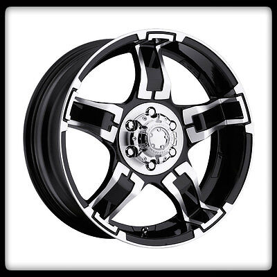 "17"" ULTRA 194 BLK DRIFTER RIMS & TOYO LT285-75-17 OPEN COUNTRY AT2 TIRES WHEELS"