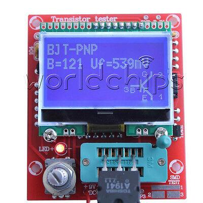 M328 Lcd 12864 Transistor Tester Diy Kits Diode Triode Capacitance Lcr Esr Meter