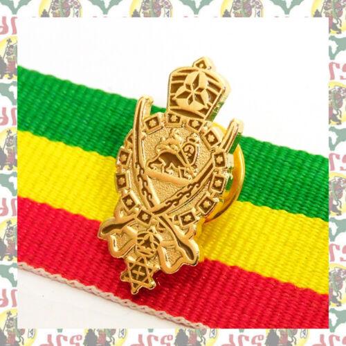 JAH ARMY [drs] 2D Pins Badge Rasta Reggae Ethiopia  Lion of Judah Haile Selassie