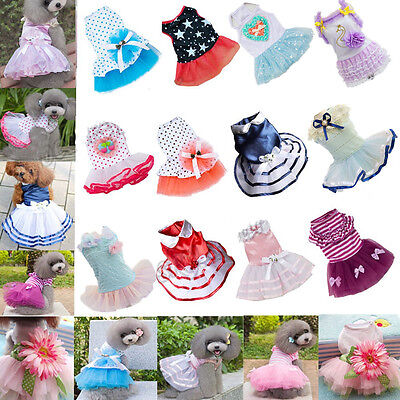 Various Cute Pet Dog Love Dress Lace Skirt Princess Clothes Party Dress Santa  - Cute Santa Dresses
