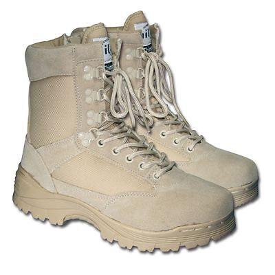 Mil-Tec SWAT Boots Zip Stiefel Herrenstiefel Schuhe Lederstiefel coyote - Coyote Boot
