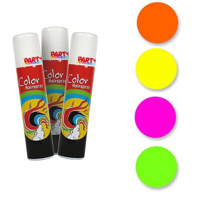 Haarspray NEON, 100 ml, Haarfarbe Haare Färben Färbespray Colorspray Bunt