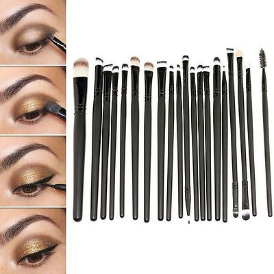 20pcs Pro Makeup Brushes Set Powder Foundation Eyeshadow Eyeliner Lip Brush Tool