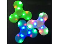 Fidget Spinner Bluetooth Speaker Function LED Tri + EDC Toys For Kids Adults PC IPHONE NEW