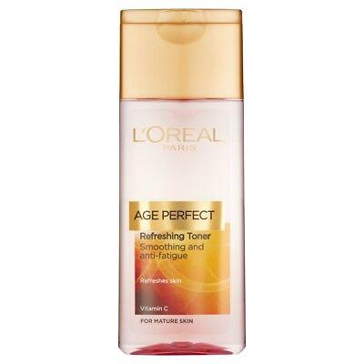 3x Loreal Age Perfect Anti Fatigue Refreshing Smoothing Face Toner 200ml