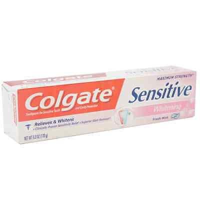 Colgate Sensitive Maximum Strength Whitening Toothpaste 6 oz (Pack of 6) Colgate Sensitive Whitening Toothpaste