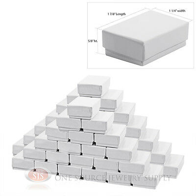 50 Gloss White Cotton Filled Gift Boxes 1 78 X 1 14 Charm Ring Jewelry Box