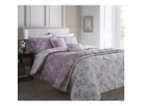 DREAMS & DRAPES CHEPSTOW bed sheet SINGLE DUVET LILAC PINK Brand New set