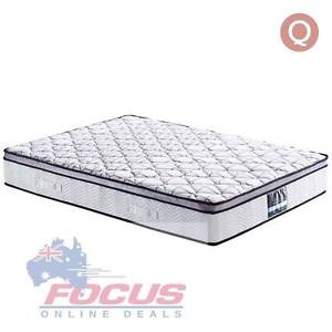 Cool Gel Memory Foam Euro Top Pocket Spring Mattress Queen 30cm Melbourne CBD Melbourne City Preview