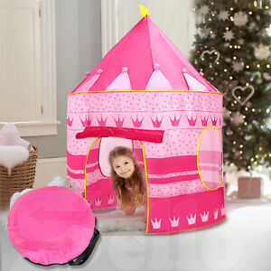 New Kid Children Play Tent Pink Princess Castle Indoor Outdoor Playhouse Gift
