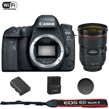 Canon EOS 6D Mark II DSLR Camera Body with EF 24-70mm f/2.8L II USM Lens
