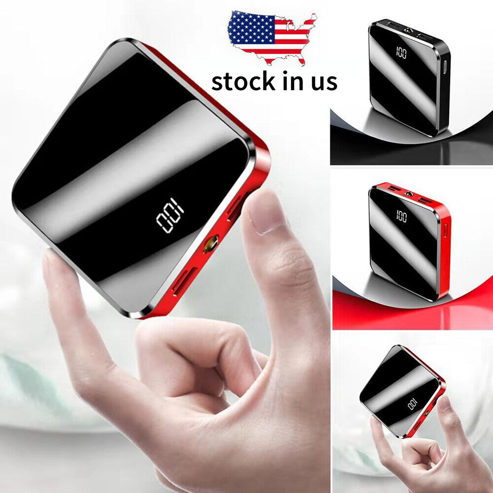 900000mah Mini Power Bank Charger For iPhone & Android 4 Por