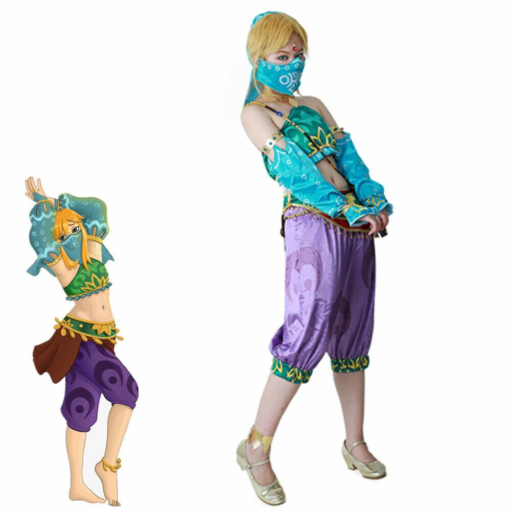 The Legend of Zelda Breath of the Wild Cosplay Costume Female Zelda Link Uniform