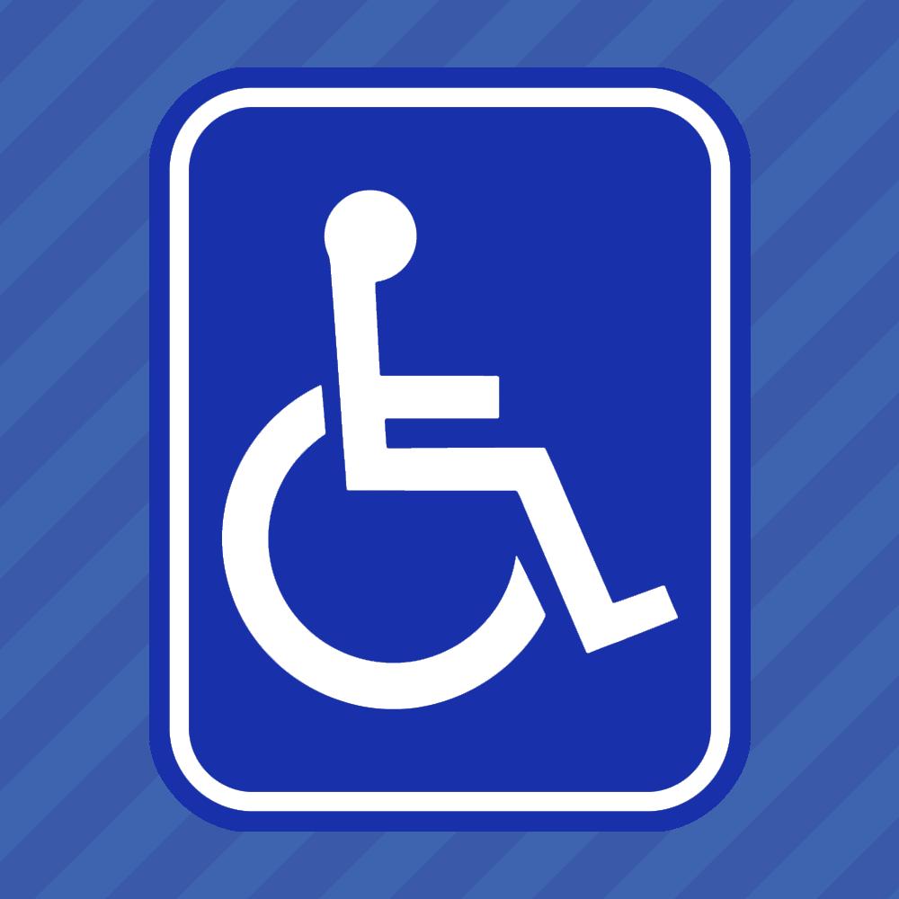 Home Decoration - Colored Handicap Symbol Vinyl Decal Sticker Wheelchair Disabled