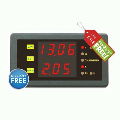 Dc 120v 300a Volt Amp Combo Meter Battery Charge Discharge Indicator With Shunt