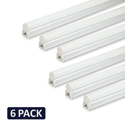 - (Pack of 6) Barrina LED T5 Integrated Single Fixture, 4FT, 2200lm, 6500K (Super