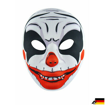 Gruselige Clown Maske Cosplay Horror Joker Halloween Fasching - Joker Clown Maske