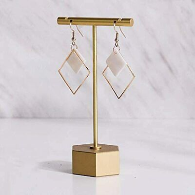 Metal Gold 4.5-1pc Earring T Bar Stand Retail Display Holders For Show Jewelry