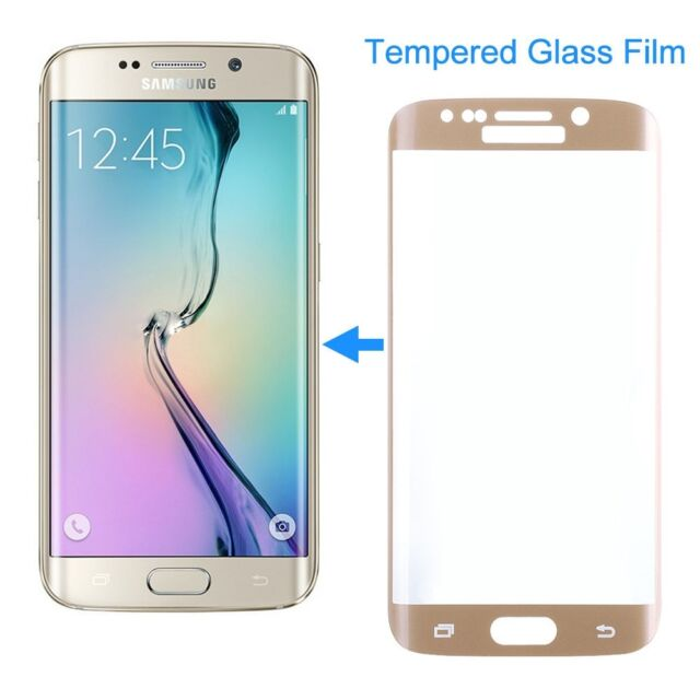Gold SAMSUNG GALAXY S6 EDGE FULL CURVED 3D TEMPERED GLASS SCREEN PROTECTOR FILM