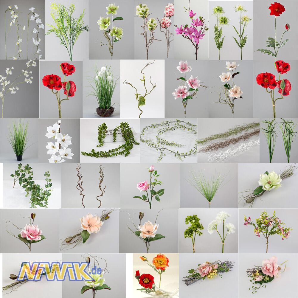Formano Kunstblumen - 48 Modelle - Blumen, Zweige, verschiedene Gräser