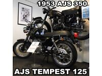 NEW AJS HERITAGE 125cc, OWN FOR £10.63 PER WEEK