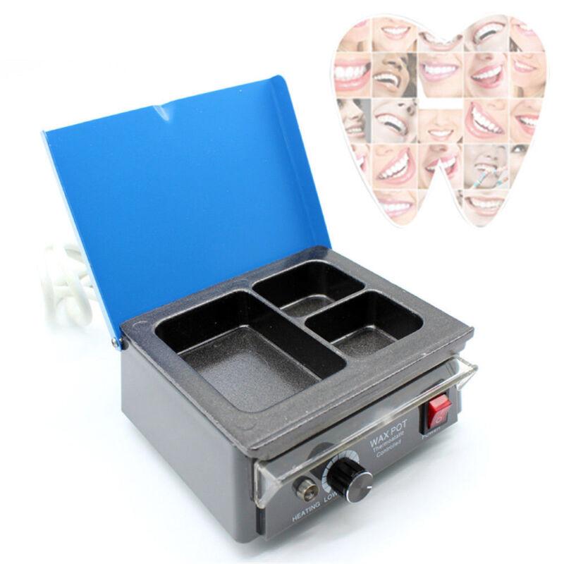 Dental Electric 3 Well Analog Wax Heater Pot Non-stick Melter Dipping Wax Pot