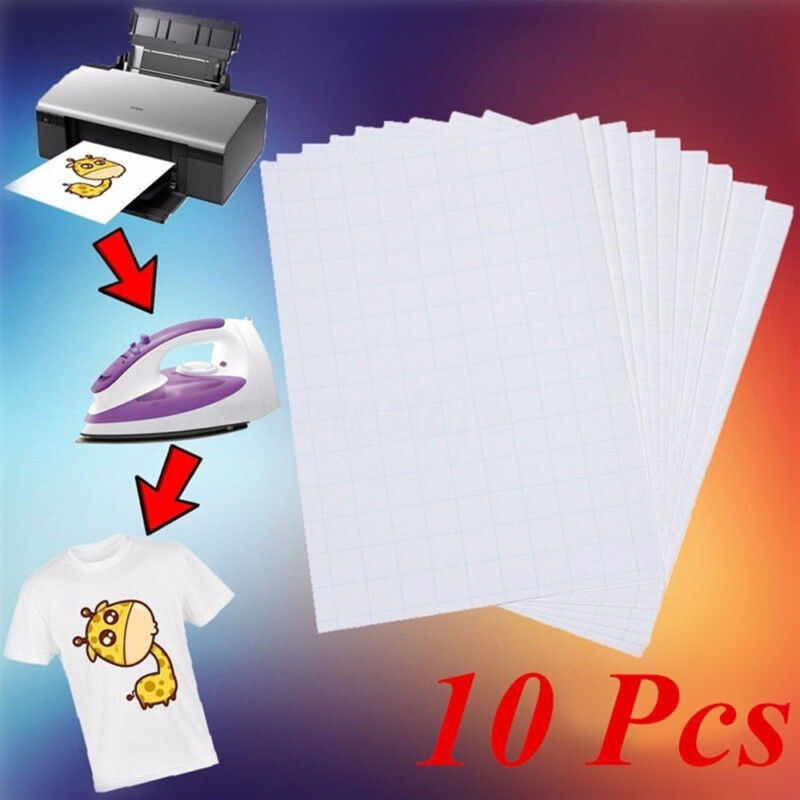 Details about 10pc A4 Sublimation Paper Iron On Heat Press Transfer Paper  Inkjet Print T-shirt