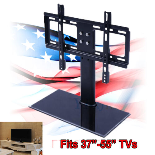 universal tv stand base wall mount for 37 55 flat screen tvs us shipping ebay. Black Bedroom Furniture Sets. Home Design Ideas